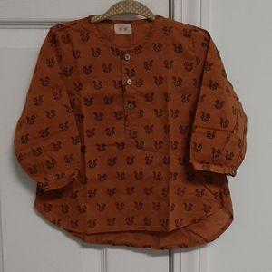 Keti keta rust shirt with squirrel